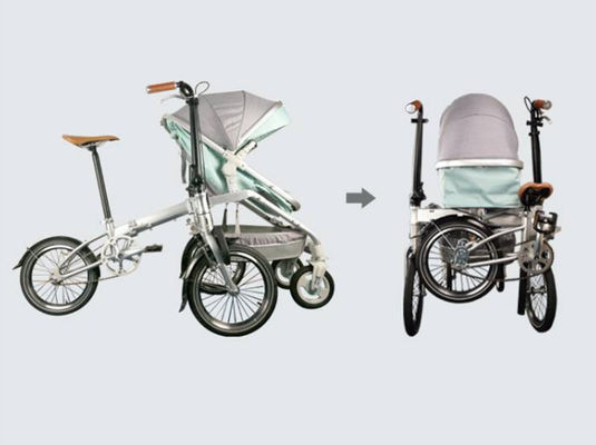 China Custom Full Size Folding Electric Bike  Family Children ' S Seat Folding Bicycle supplier