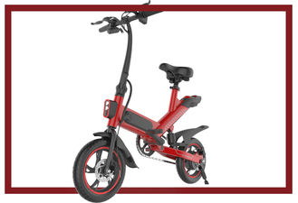 China Small Foldable Electric Bicycle , 36V 350W Folding E Bike Energy Saving supplier