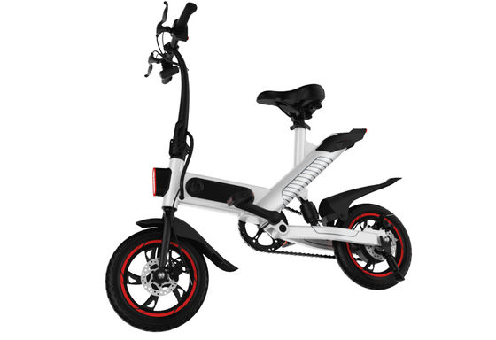 China Green Lightweight Electric Bike , Electric Fold Up Bicycle High Performance supplier