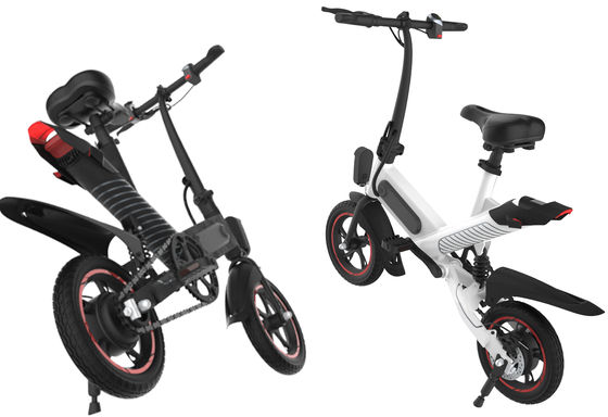 China Portable Small Electric Bike , Triangular Structure Lightweight Folding Bike supplier