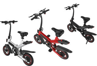 China Professional Small Folding Electric Bike 12 Inch 350W Brushless Motor Front & Rear 12 Inch supplier