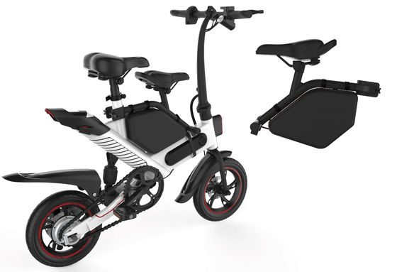 China Folding Electric Commuter Bike , Ladies Motorized Folding Bike Simple And Fashionable supplier