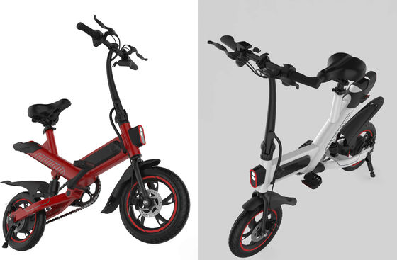 China Elegant And Compact Foldable Electric Bike , Collapsible Power Assisted Bicycle supplier