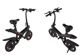 China Compact Electric Assist Bicycle , Small Folding Electric Bike 120kgs Max Load supplier