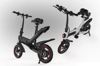 China Portable Collapsible Electric Bike , Folding Electric Bicycle With Disc Break System supplier