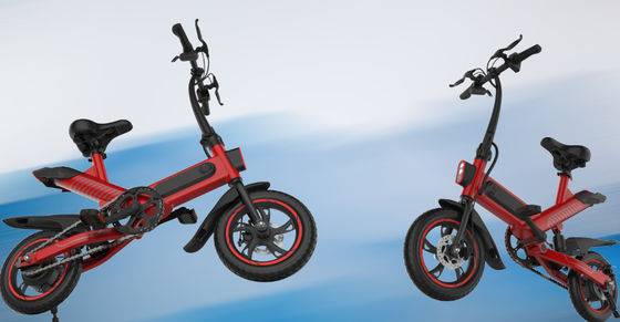 China lithium Battery Folding Travel Bike High Speed 350W Brushless Motor 120KG Load supplier