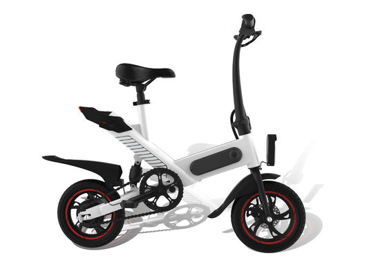 China High Carbon Steel Frame Folding Electric Bicycle 12'' Pneumatic Tire Speed 25KM/H supplier