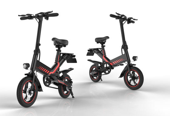 China Multi Functional Full Size Folding Bike 14 Inch Aviation Aluminium Alloy 400W Motor Power supplier