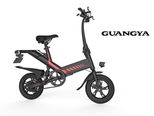 China Portable Full Size Folding Electric Bike 36V 7.5AH Speed 25KM/H 350W Engine supplier