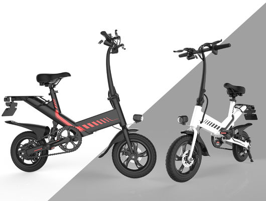 China Tourism Electric City Folding Bike 12 Inch Aluminum Alloy Frame IP54 Waterproof supplier