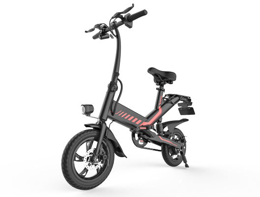 China Anti Rust Chain Folding Electric Bicycle 350W Brushless Engine 12 Inch Lithium Battery supplier