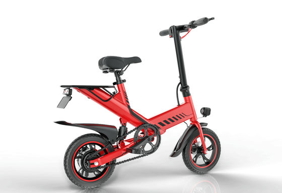 China 400W 48V Folding Road Bike Portable Electric Bicycles For Adults / Children supplier