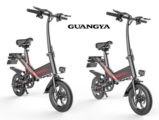 China Digital Odometer Foldable Electric Bicycle Max Speed 25KM/H 12 Inch Pneumatic Tire supplier