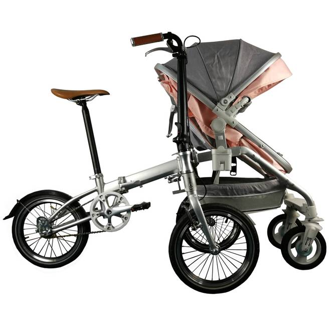 Custom Full Size Folding Electric Bike  Family Children ' S Seat Folding Bicycle
