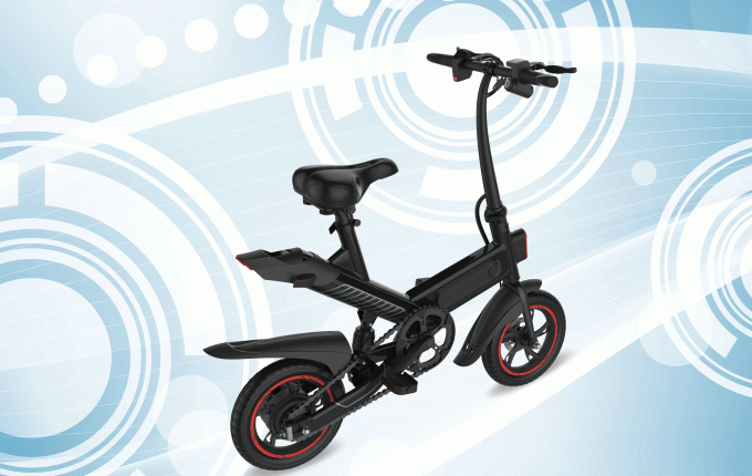 Professional Small Folding Electric Bike 12 Inch 350W Brushless Motor Front & Rear 12 Inch