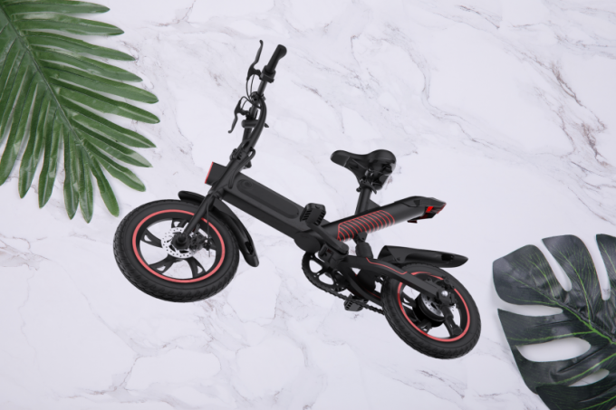 Portable Folding Electric Bicycle36V Lithium Battery Powered Simple Style And Economical