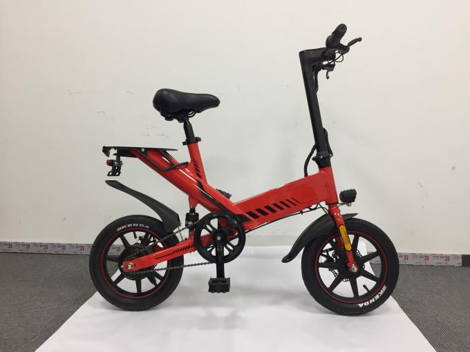 Digital Odometer Foldable Electric Bicycle Max Speed 25KM/H 12 Inch Pneumatic Tire