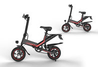 400W Engine Lightest Electric Folding Bike 14 Inch With 15 Degree Slope Road Surface